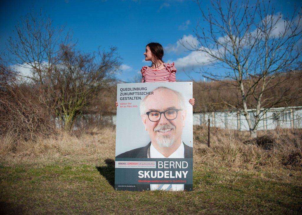 Wahlwerbung Oberbürgermeisterwahl Quedlinburg